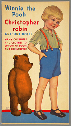 "Christopher Robin & Winnie-the-Pooh als ""Cut-Out-Dolls""  (1935)"